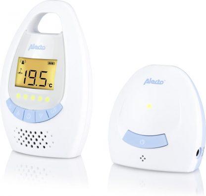 Alecto DBX-20 Digitale Babyfoon | Met digitale en 100% storingsvrije verbinding en display | Wit / Blauw