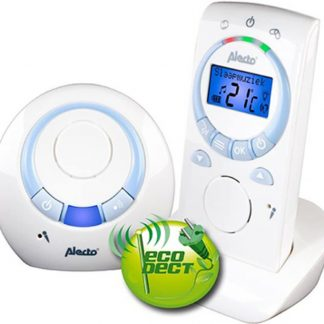 Alecto DBX-76 ECO DECT babyfoon| 100% storingsvrije verbinding en eenvoudig in gebruik | Wit / Blauw