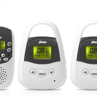 Alecto DBX-82 + DBX-83 PMR Babyfoon met groot bereik | 2 babyunits mee geleverd | Exclusief | Zwart