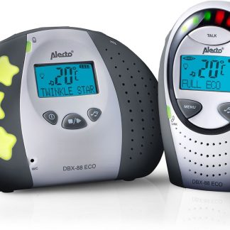 Alecto DBX-88 LIMITED Eco DECT Babyfoon met display| 100% storingsvrije verbinding en ECO modus | Grijs