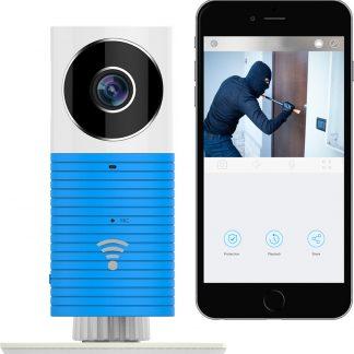 Cleverdog Draadloze IP Beveiligingscamera / Babyfoon - Met Infrarood - Blauw