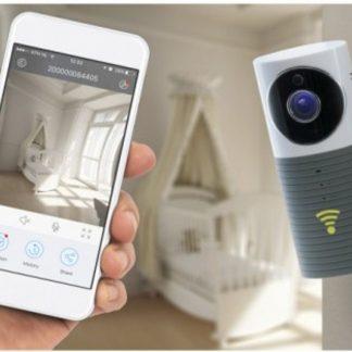 WiFi Beveiligingscamera en babyfoon HD WiFi Camera Grijs