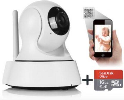 Baby Care By DSE - Slimme HD Wifi Babyfoon - Nachtzicht - Bediening Via App - Bewegingsmelding - Praten En Luisteren Via App - Bewakingscamera - Babyfoon Met Camera