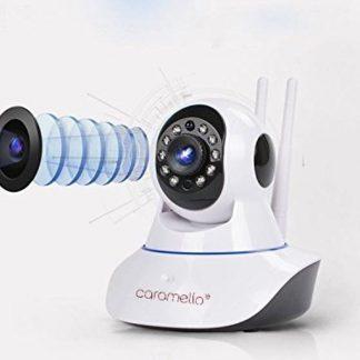 CARAMELLO Draadloze 1080P IP-Camera WIFI (2MP) , WiFi-bewakingscamera voor Baby /Ouder/Huisdier/Oppas Monitor, Rotatie/Lift, Tweerichtings Audio & Nachtzicht