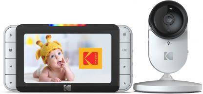 """Kodak C520 wifi babyfoon met camera en 5"""" kleurenscherm   Wifi babyfoon voor thuis én onderweg   Altijd en overal toezicht met smartphone/tablet   wit"""