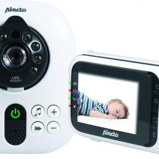 "Alecto DVM-80 Babyfoon met Camera 2,8"" | Uitbreidbare babyfoon| Kleurenscherm | Wit / Zwart"