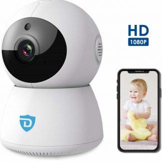 Detepo® Wifi Baby Camera | HD Beveiligingscamera voor Binnen | IP Babyfoon Monitor met Tweerichtingscommunicatie | PTZ Bestuurbaar met Gratis App | Full-HD 1080p met Nachtzicht