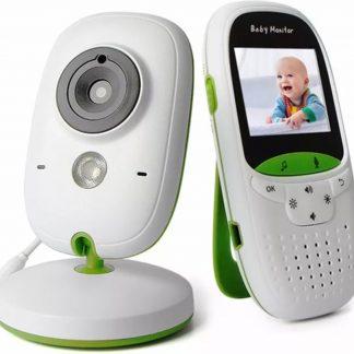 VB602 Babyfoon Baby Monitor met camera - Wit met Groen
