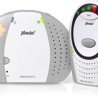 Alecto DBX-85 ECO GS ECO DECT babyfoon | 100% storingsvrije verbinding en ECO modus | Wit / Grijs