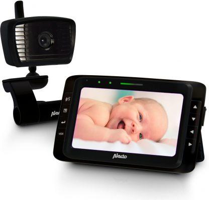 """Alecto DVM-250ZT Babyfoon met camera 5.0"""" - Uitstekende beeld- en geluidskwaliteit - Zwart"""