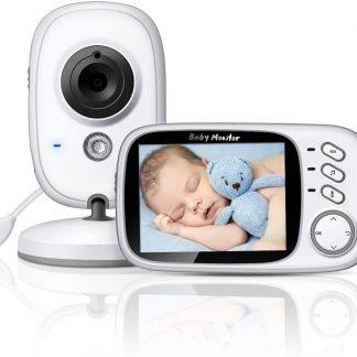 Babyfoon met camera | Babymonitor | 3.2 inch babyphone | Groot bereik | Terugspreken | Temperatuur | Slaapliedjes | Nachtzicht | Energiebesparing | Model 2020