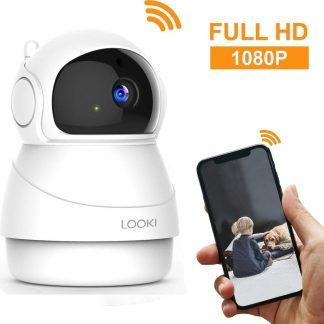 Looki® 1080P Cloud Wifi HD Camera met iOS & Android App - I8 Wit - Bestuurbare IP Video Beveiligingscamera met IR Nachtzicht en Bewegingssensor - Two-Way Audio - Babyfoon met app