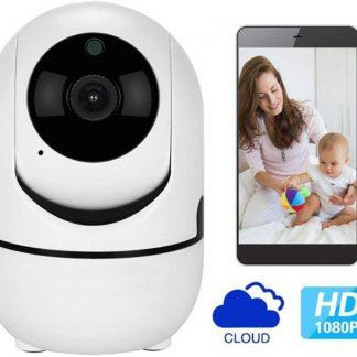 Onze Best Verkochte A-Kwaliteit Draadloze Babyfoon, WiFi Security Camera, Motion en Geluid Detectie, Nachtvisie, 1080p - 2MP, Two-Way Audio, iOS + Android App Besturing, Cloud Storage