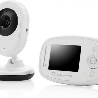 Optible 1.2 Babyfoon met Camera | 2.4 Inch| HD Video Babyphone | Baby Monitor met Kleurenmonitor | Wit
