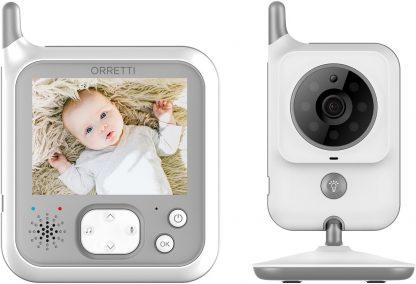 Orretti® V9 Babyfoon met camera - Sterkere Batterij - Beter Zendbereik - Groot LCD scherm - Terugspreekfunctie - Temperatuurbewaking - Slaapliedjes - Lange Afstand en hoge Batterij Capaciteit - Wit