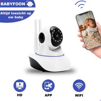 Slimme HD Wifi Babyfoon - Nachtzicht - Babyfoon Met App - Bewegingsmelding - Praten En Luisteren Via App - Bewakingscamera - Babyfoon Met Camera - Babyphone Wifi