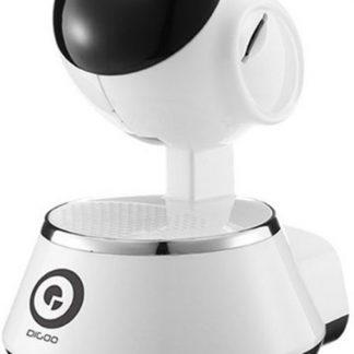 Digoo-BB-M1-Beveiligingscamera - IP camera - Babyfoon met app - babyfoon - Toezicht met app - Draaibaar - HD 720P - Infrarood - Nachtzicht - Wit