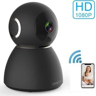 Orretti® X3 Cloud Wifi 2 MP Camera - Geluids- en Bewegingsdetectie - Babyfoon met camera - Zwart