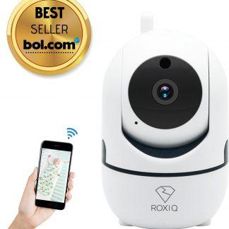 Roxiq Babyfoon 1080P HD camera met app functie - Baby cam met beweeg- en geluidsdetectie - Draadloos - Opslag in Cloud - Externe opslag SD - Babyphone Wifi - Bewegingsmelding