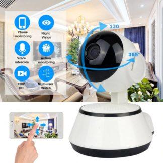 WiseGoods - WiFi Camera - Babyfoon Camera - Babyfoon - Nachtmodus - Draadloos - Verbinding Met Telefoon - 720p - HD - Beveiligings Camera - Wit