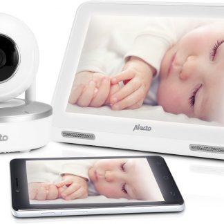 """Alecto DIVM-770 HD Wifi babyfoon met camera en 7"""" touchscreen - Babyfoon voor thuis én onderweg"""
