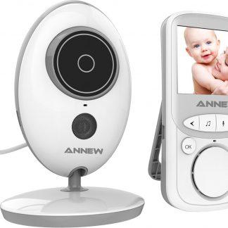 Babyfoon met Camera | 2 Inch Video Babyphone | Baby Monitor met VOX Modus | Wit