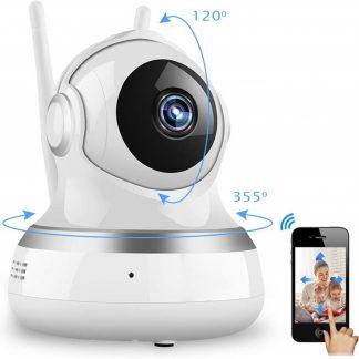 Babyfoon met Camera - Draadloos - Draagbaar - WIFI - 720 HD - Live Beeld en Geluid