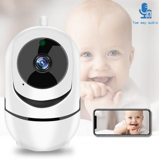 Babyfoon met camera - Wit - Beveiligingscamera - Wifi camera - 1080p - Full HD - Beweging en geluid detectie - Nachtvisie - App functie - Opslag in cloud of SD