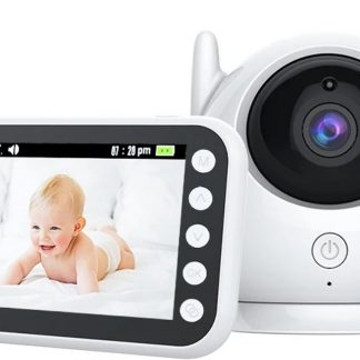 DeLux Babyfoon Premium - met camera - temperatuur - beweegbaar - 4,3 inch scherm