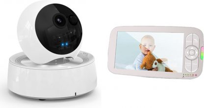 Foresta® XXL Babymonitor - video Babyfoon - Babyphone met Camera - Premium 5 inch monitor - Baby camera extra large