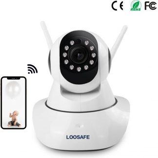 HD Wifi babyfoon met camera en app besturing- Smart camera - Bewegingsmelding - Nachtzicht - HD 2.0 megapixel 1080P HD- Micro SD kaart opslag