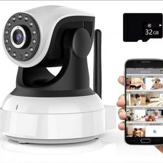 IP-camera met bewegingsdetectie - babyfoon met camera- wifi beveiligingscamera met app - binnen - draai- en kantelbaar