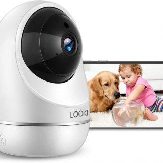 Looki® Vision One WiFi Babyfoon met Mobiele App - Wit - 3MP - Met Geluidsdetectie en Bewegingsdetectie - Infrarood Nachtzicht- Beveiligingscamera - Bewakingscamera