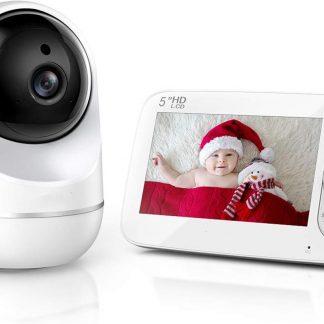 Looki Babyfoon met 5 inch Monitor - Geluidsdetectie en bewegingsdetectie - Wit