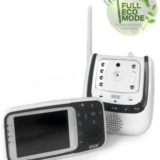 NUK Eco Control + Babyfoon met camera - Stralingsvrij en met terugspreekfunctie - Wit / Antraciet