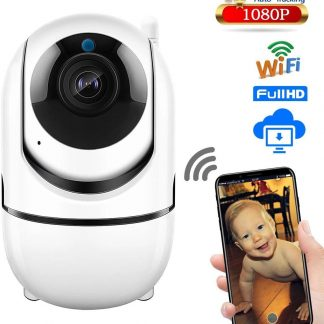 Onze Best Verkochte & Veilige Elite Quality Babyfoon, WiFi Security Camera, Motion en Geluid Detectie, Nachtvisie, 1080p, Two-Way Audio, iOS + Android App Besturing, SD Card + Cloud Storage