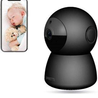 Orretti® HD WiFi Camera met Cloud opnames - 2 Megapixel - IP Video Beveiligingscamera met Nachtzicht Bewegingsdetectie - Babyfoon