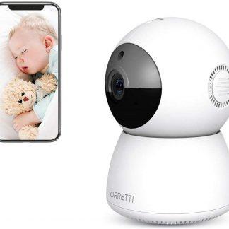 Orretti® X2 Smartcam - IP camera WiFi - Cloud opnames - Bewakingscamera met bewegingsdetectie - Babyfoon met Camera - Wit