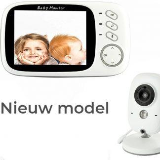 VB603 Babyfoon met Camera | 3.2 Inch Video Babyphone | Baby Monitor met Kleurenmonitor | Wit