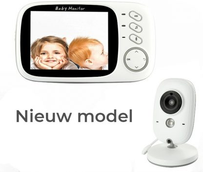 VB603 Babyfoon met Camera   3.2 Inch Video Babyphone   Baby Monitor met Kleurenmonitor   Wit