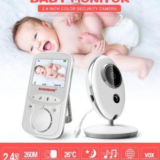 Video Babyfoon - Babyfoon met Monitor - Draadloze LCD Audio Video Babyfoon met Muziek en Intercom - Draagbare Camera Babyfoon