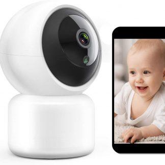 Z-Com Beveiligingscamera WiFi met app   Wit   Verbind met smartphone   Draadloze babyfoon met app  Bewegingsdetector   Geluidsdetector   Nachtzicht   Microfoon   Babybeveiliging   Nieuw model 2020