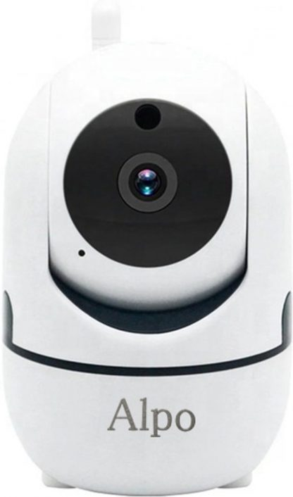Alpo Babyfoon Camera - Full HD 1080P - CCTV Camera - Met Nachtvisie - Wifi - Security Camera - Met App voor Android & iOS - Draadloze Beveilingscamera - SD-kaart - Two-Way Audio - Motion Detection - Automatic Tracking