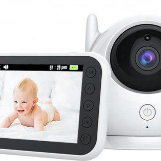 Babyfoon met Camera Baby Monitor 4.3 INCH 1500 mAh  Groot scherm  Temperatuur  Slaapliedjes  TwoWayTalk  360 Graden 