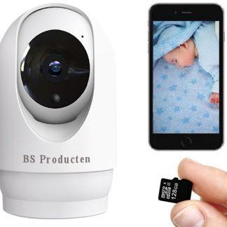 De Best Verkochte - Babyfoon Met Camera - Babyfoon - Babyfoon Met App - WiFi - Smart Camera - Opslag In Cloud Of SD - Babyphone - Babyfoon Camera - Incl SD Kaart - BS Producten
