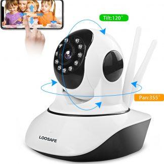 Loosafe® Babyfoon met camera en app - WiFi Security Camera - Hoge kwaliteit video - beveiligingscamera - IOS + android app besturing - Two-Way Audio - nachtvisie - bewakingscamera - geluid en bewegingsdetectie