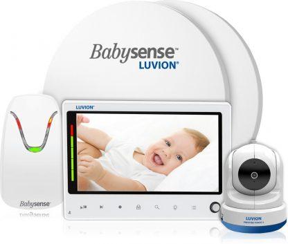 Luvion Prestige Touch 2 Babyfoon met Camera + Babysense 7 - Sensormatje - 5 Sterren Veiligheidsvoordeelbundel