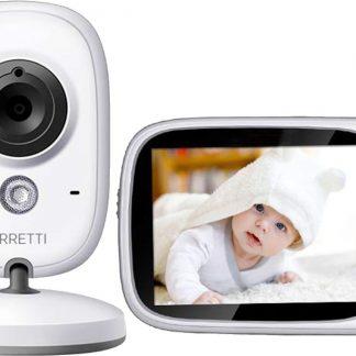 Orretti® V8 Babyfoon met camera - EXTRA batterij inbegrepen - Groot LCD scherm - Sterk Zendbereik