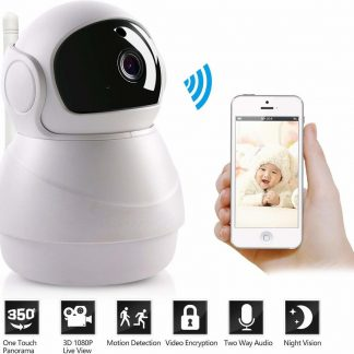 WIFI 1080P 2MP 80 ° / 355 ° PTZ IR Nachtzicht Home Security IP Camera Audio Video Babyfoon Gratis APP