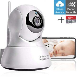 Babyfoon met Camera en WiFI - Gratis SD-Kaart - Babymonitor - Beveiligingscamera - Wit